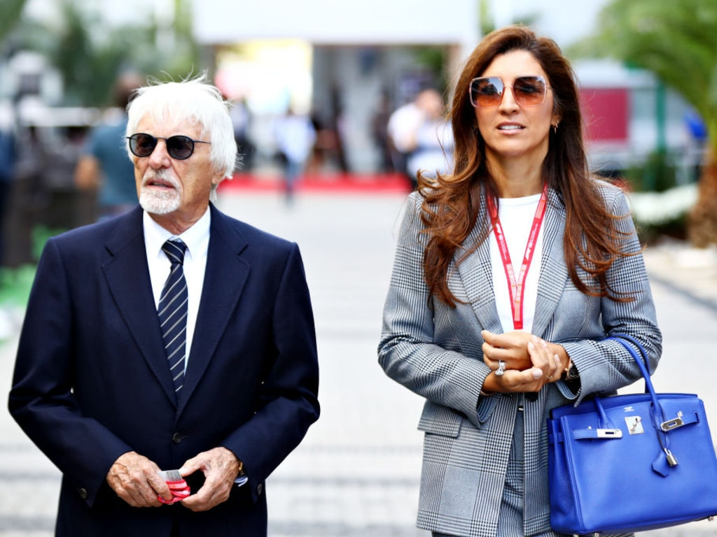 Bernie Ecclestone, Chairman Emeritus of the Formula One Group, and his wife Fabiana.