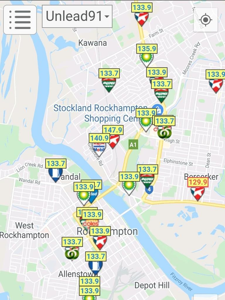 EXPENSIVE FUEL: The Rockhampton Region continues to be slugged higher prices than Mackay or Gladstone despite the plunging oil price.