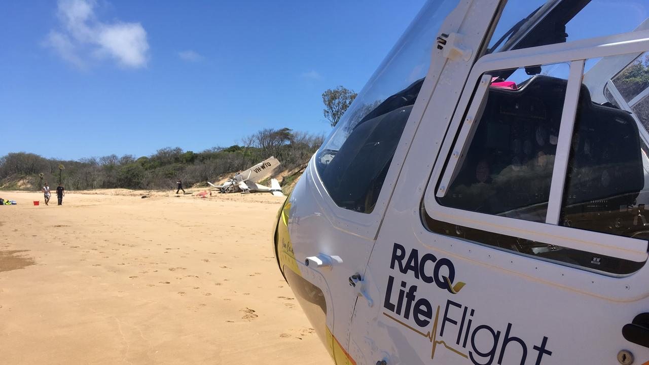 RACQ LifeFlight Rescue on scene at the crash.
