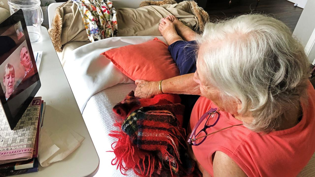 Villa Carramar resident keeping in touch with family thanks to new iPads.