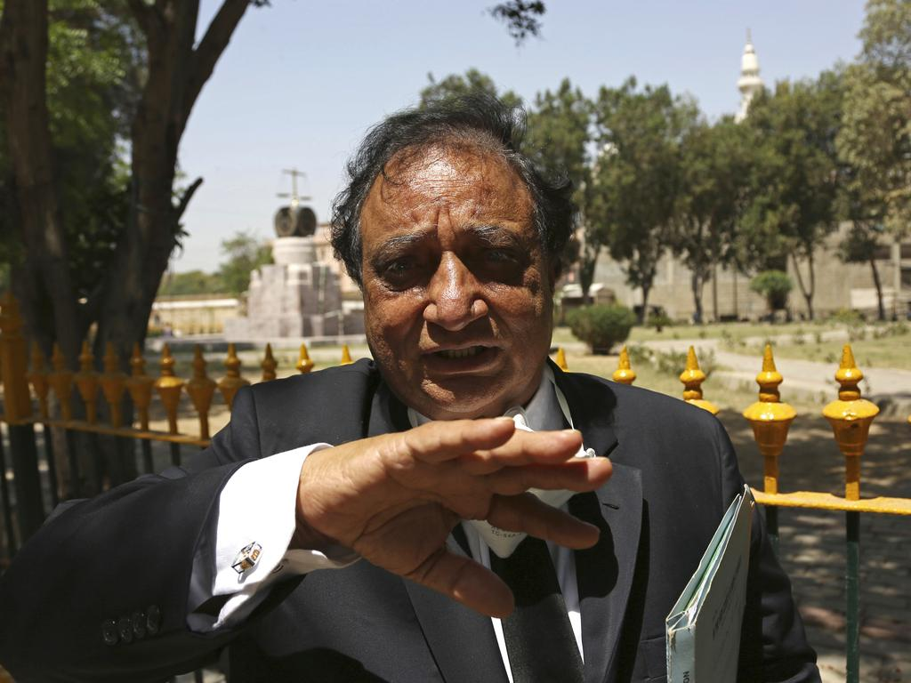 Khwaja Naveed, lawyer of Ahmed Omar Saeed Sheikh. Picture: AP