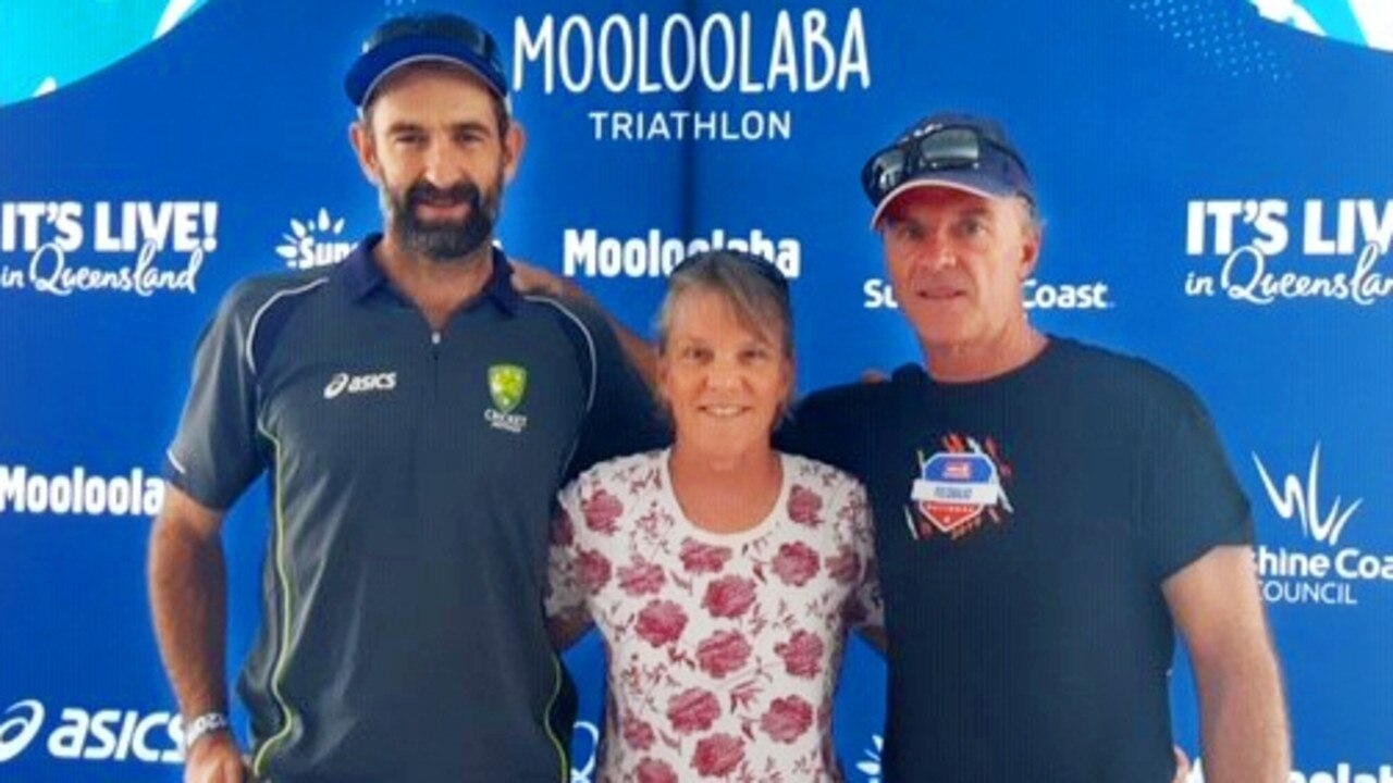 Ipswich athlete Paul Shard with Big Hit teammates Shiralee Beilenberg and Rob Partington. The trio won the 40's mixed masters event for a seventh time at the recent Mooloolaba Triathlon.