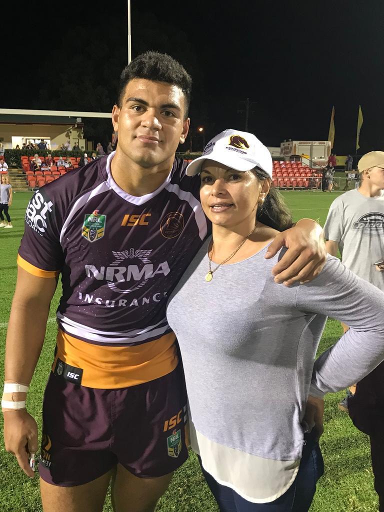 David Fifita with mum, Gwen.