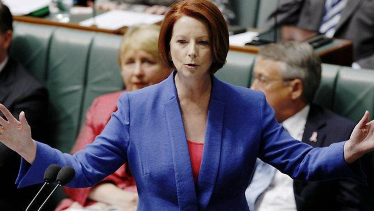 Former Prime Minister Julia Gillard faced horrific sexism while leading the country. Picture: supplied