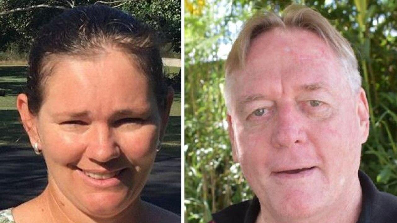 Gympie Regional Council candidate hopefuls Jess Milne and Mark McDonald.