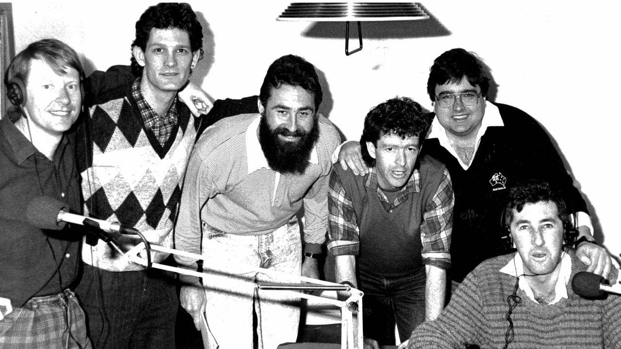 The Coodabeen Champions in the late 1980s: Simon Whelan, Greg Champion, Julian Ross, Ian Cover, Tony Leonard and Jeff Richardson.