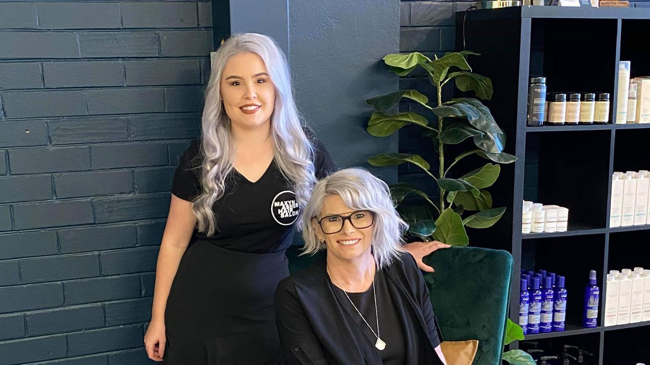 Owners of Maxyn Asher Hair Nicole McDonell and Hannah Graham.