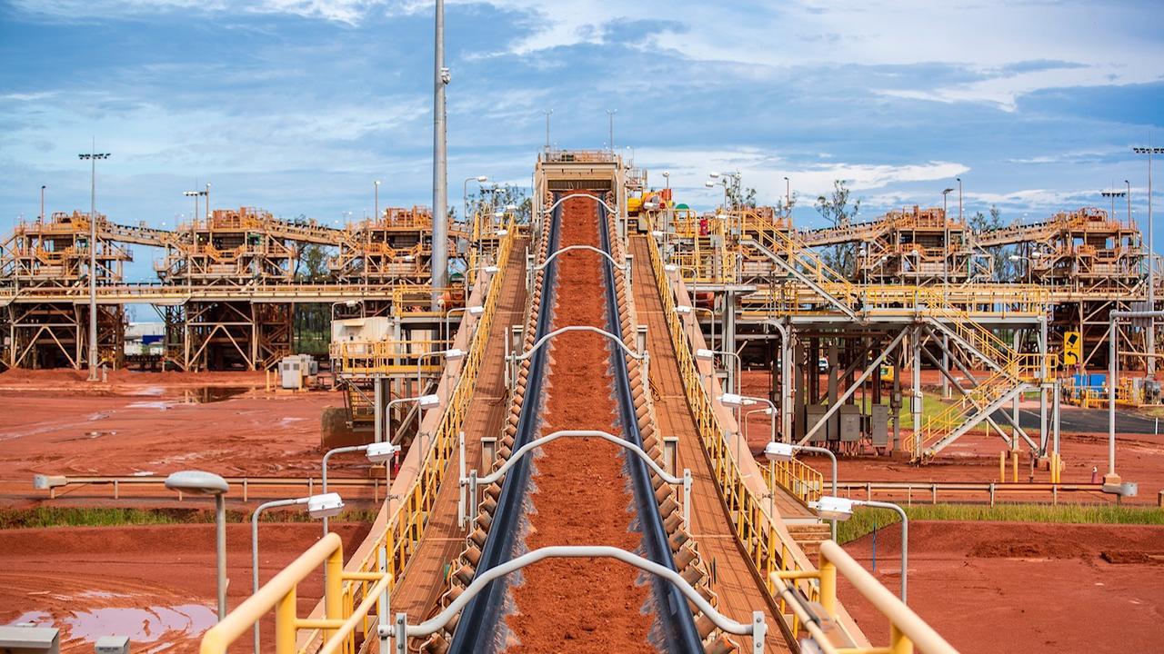 Rio Tinto's Amrun bauxite facility in Weipa.