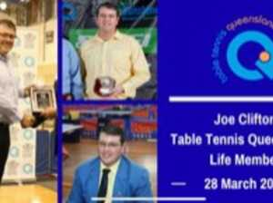 Top honour for more than 30 years of table tennis