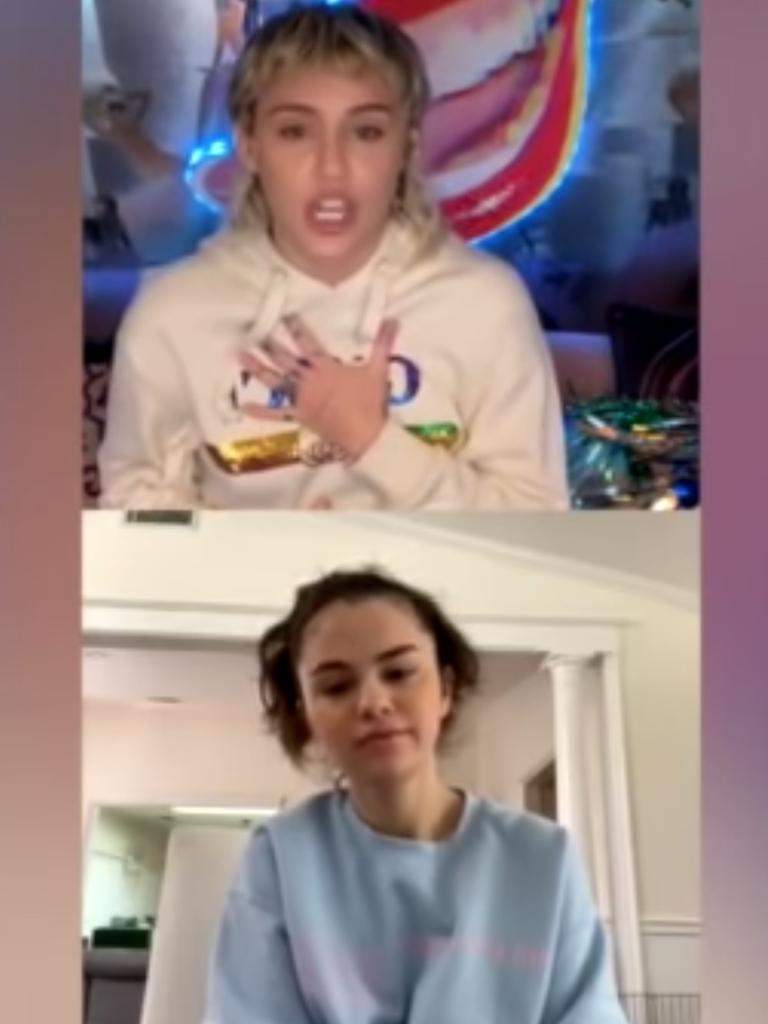 Miley Cyrus said she also called her grandma to make sure she was protecting herself. Picture: YouTube