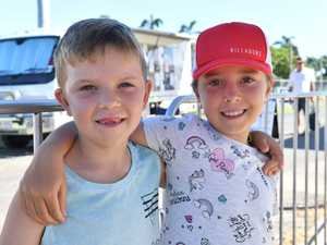 Brax, 7, and Chloe Scott, 9, enjoyed seeing what was
