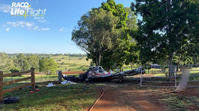 PICS: Crop duster crashes into paddock in front of witnesses