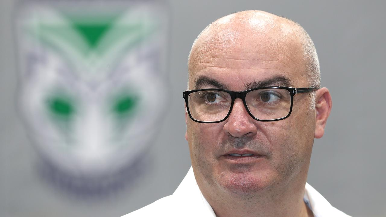 Warriors CEO Cameron George fears his side will not be able to participate when the NRL season resumes Picture: Getty