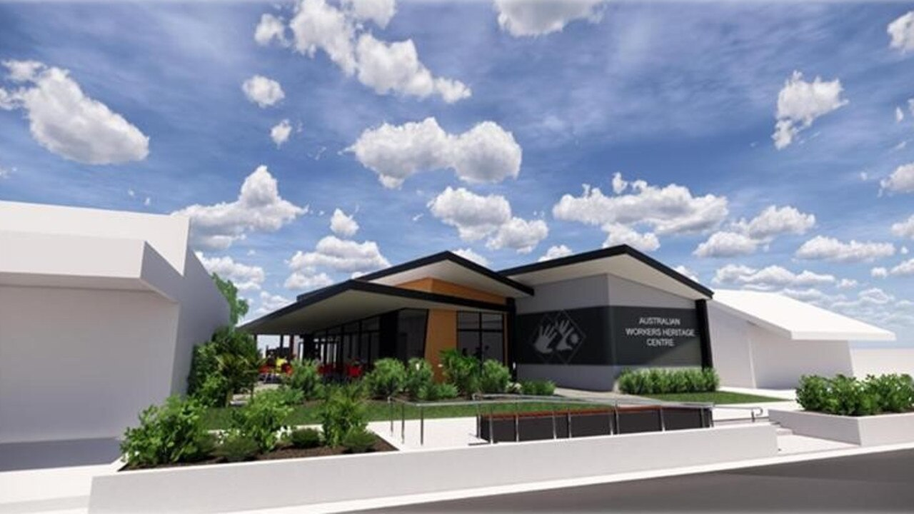 Designs of the new entrance building at Australian Workers Heritage Centre.