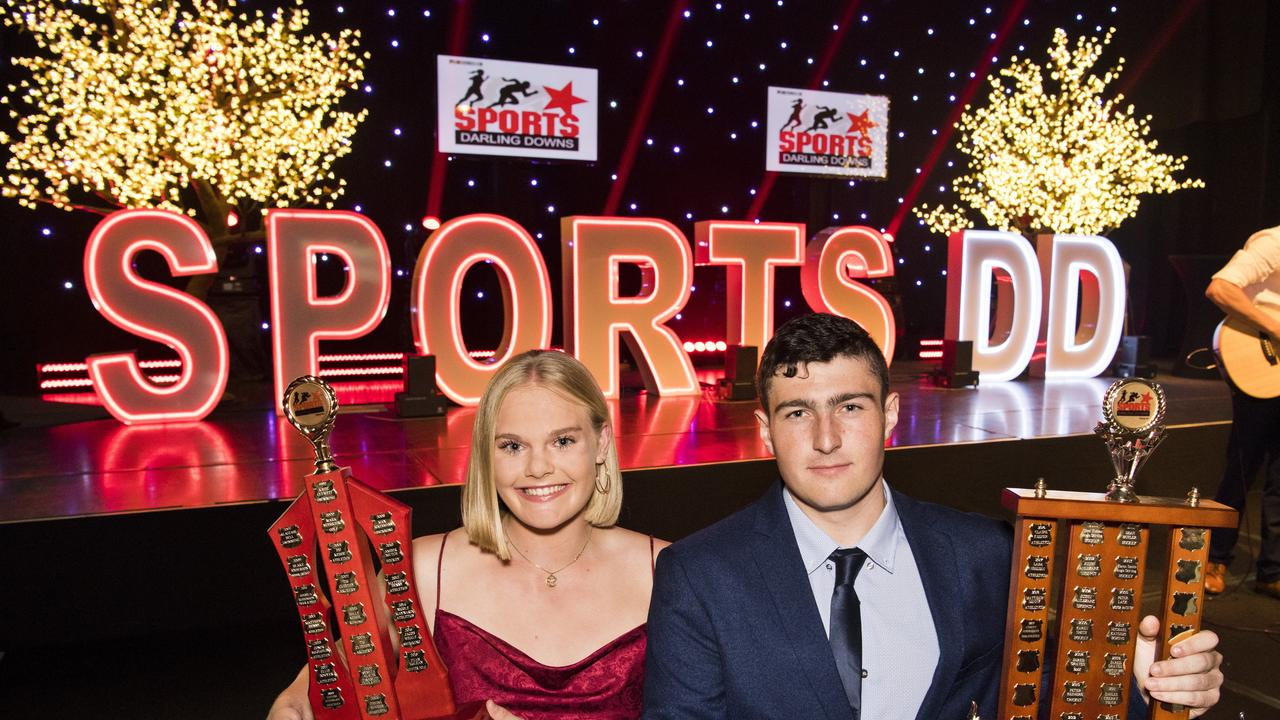 ON HOLD: Sports Darling Downs 2019 major award winners Tatum Stewart (left) and Corey Anderson.