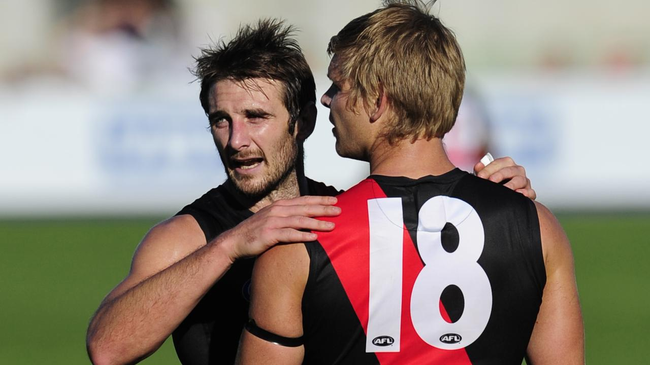 Michael Hurley says his former captain Jobe Watson inspires him as a leader today.