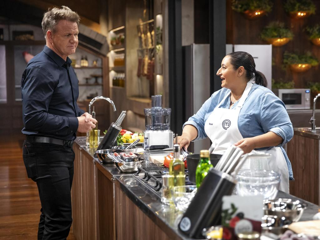 Gordon Ramsay supervises a challenge on MasterChef Australia, to air Monday April 13. Picture: Supplied/Tina Smigielski