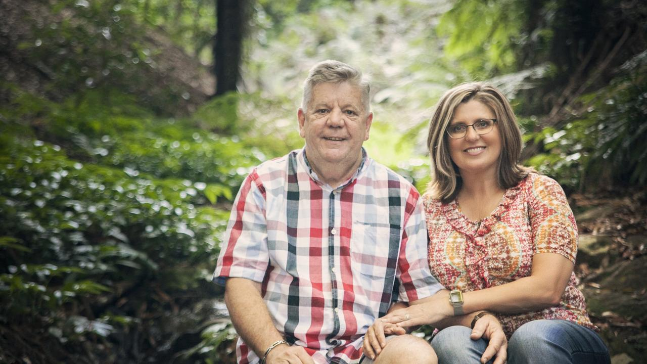 The Bunyas' Eleanor and Wayne Kratzmann are staying positive and safe at the Bunya Mountains.