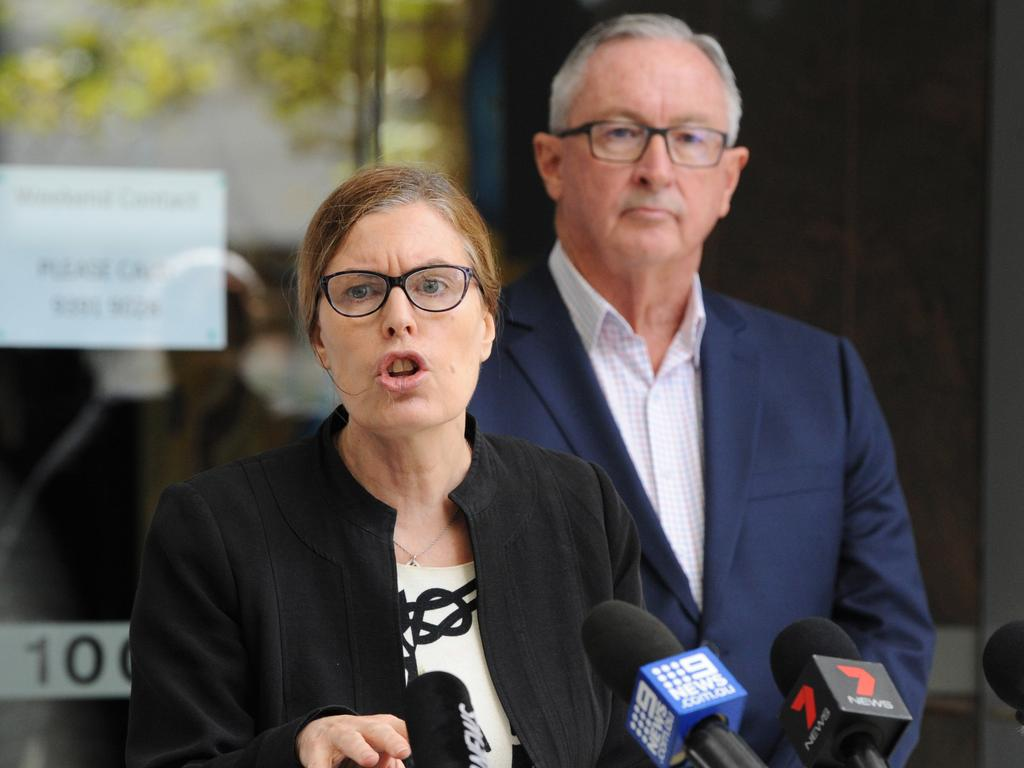 NSW Chief Health Officer Kerry Chant and Health Minister Brad Hazzard yesterday defended allowing passengers to disembark the ship. Picture: Simon Bullard
