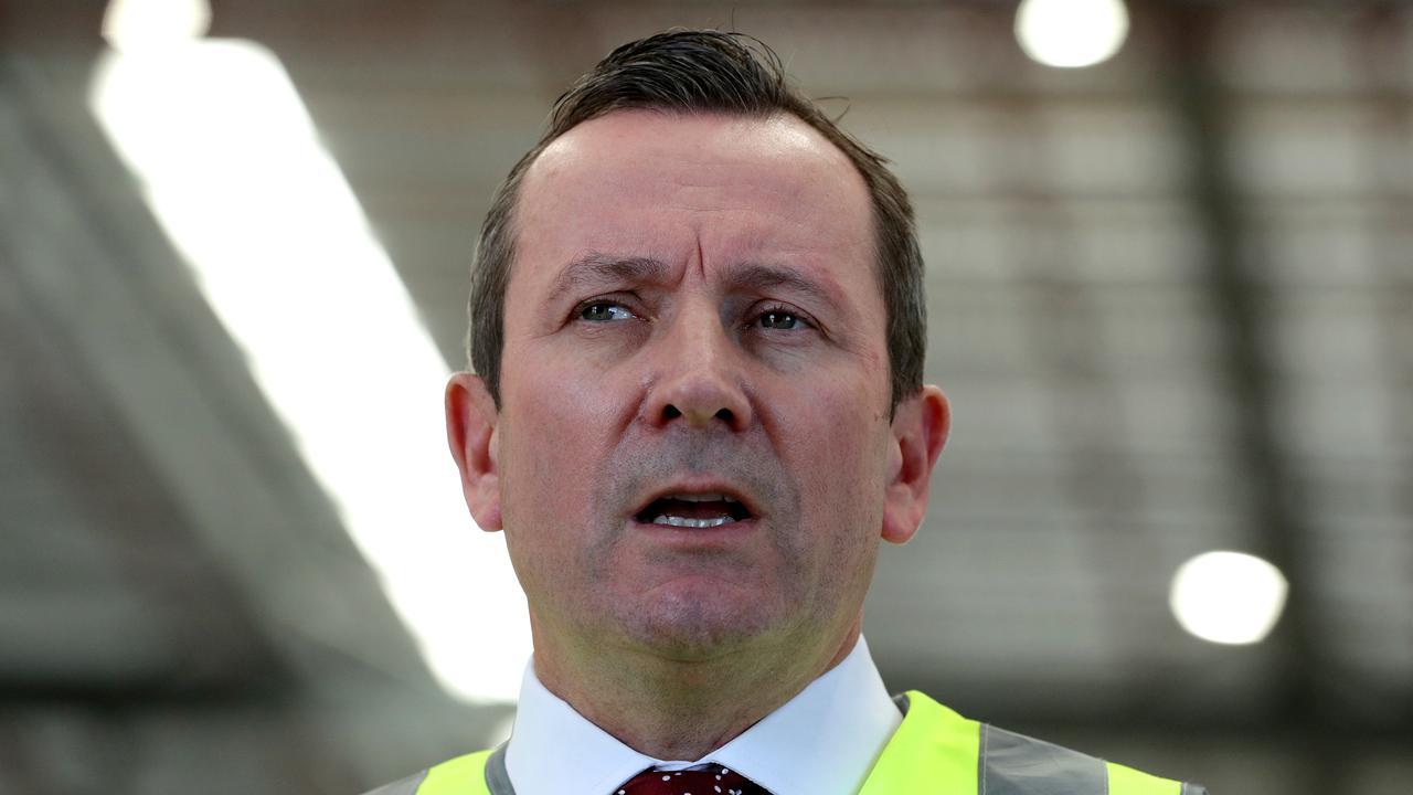 Premier of Western Australia Mark McGowan was not impressed. Picture: Richard Wainwright/AAP