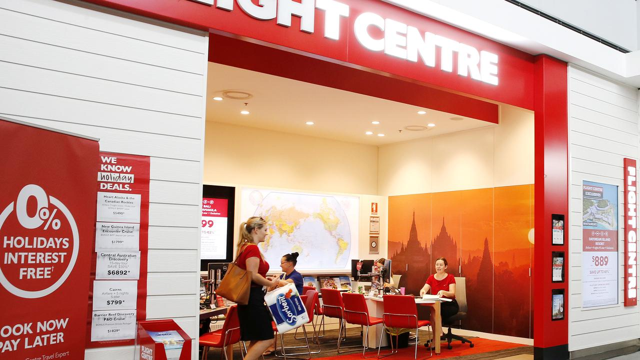 Hundreds of Flight Centre stores will close in the coming months. Picture: Josh Woning/AAP