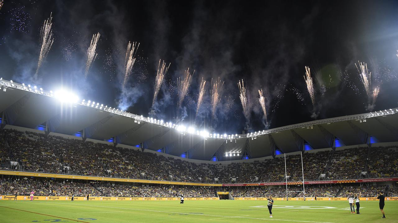 The brand new Queensland Country Bank Stadium in Townsville would make the perfect venue to host a grand final. Picture: Ian Hitchcock/Getty Images