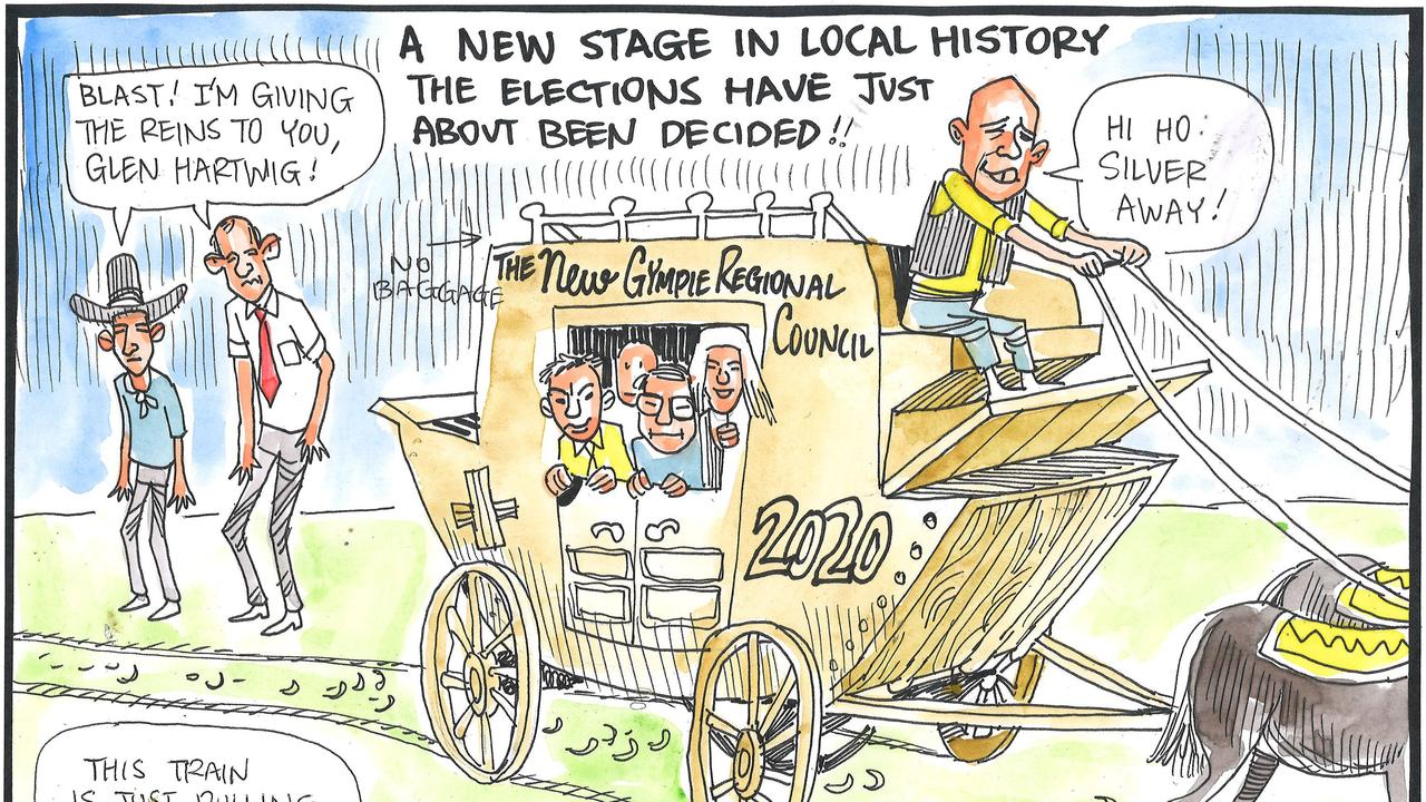 Jeff Douwes cartoon in last Saturday's Gympie Times.