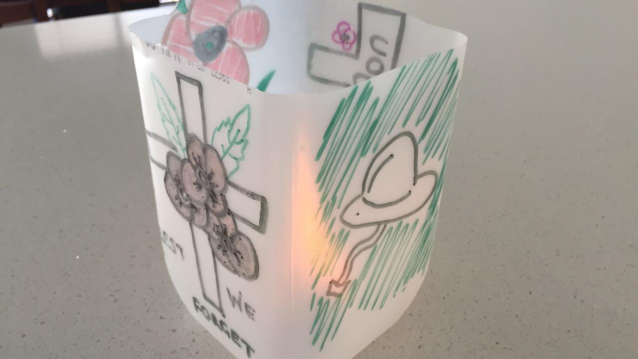 An Anzac Day lantern.