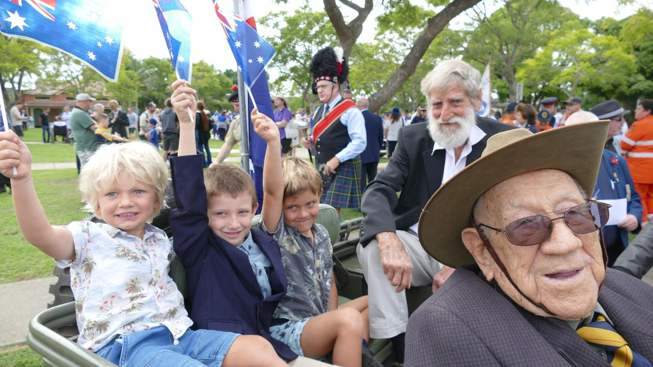 At 100-years old Grafton Word War 2 veteran Henry 'Corky' Caldwell, pictured with his family at last year's Anzac Day march, is having his own mini-Anzac Day march this morning, travelling down Prince St, Grafton from 11.30am. Give him a wave.
