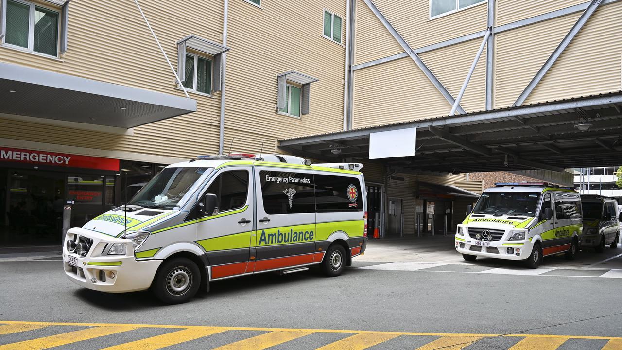 Ambulances at Ipswich Hospital.