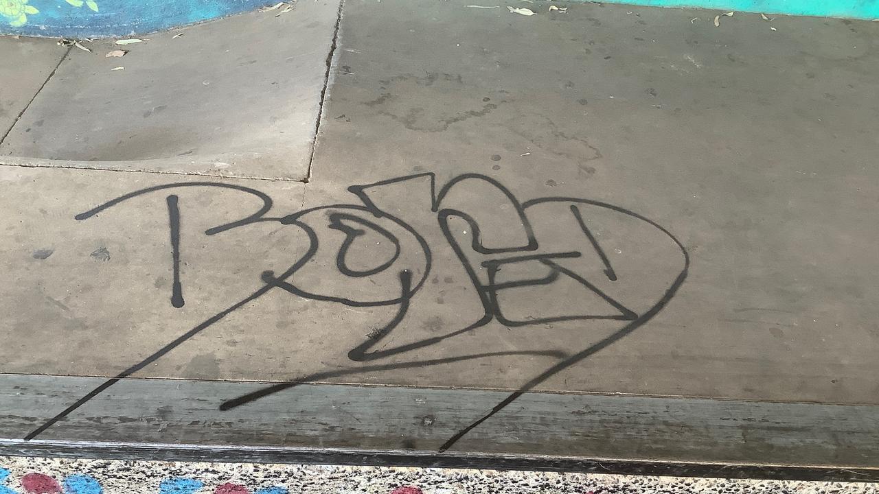 The Dysart skate park has been vandalised with graffiti.