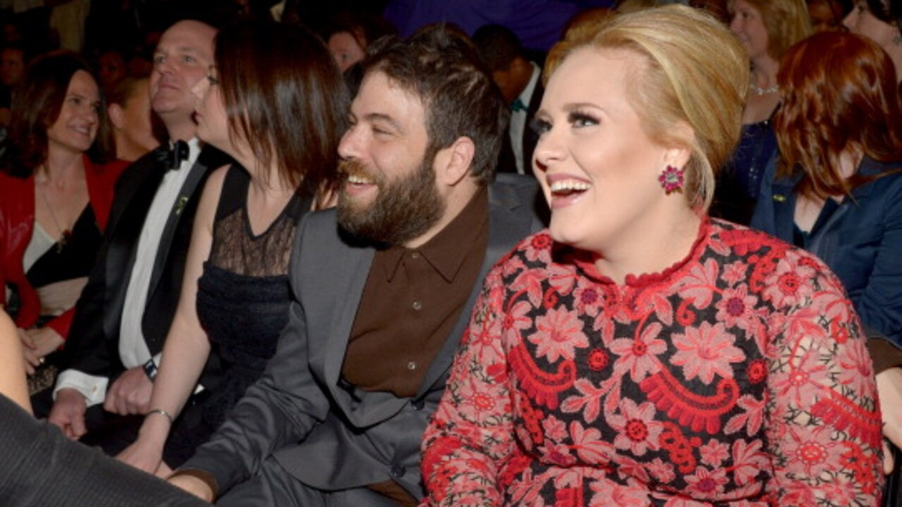 Adele (R) and Simon Konecki at the 2013 Grammys. Picture: Lester Cohen/WireImage
