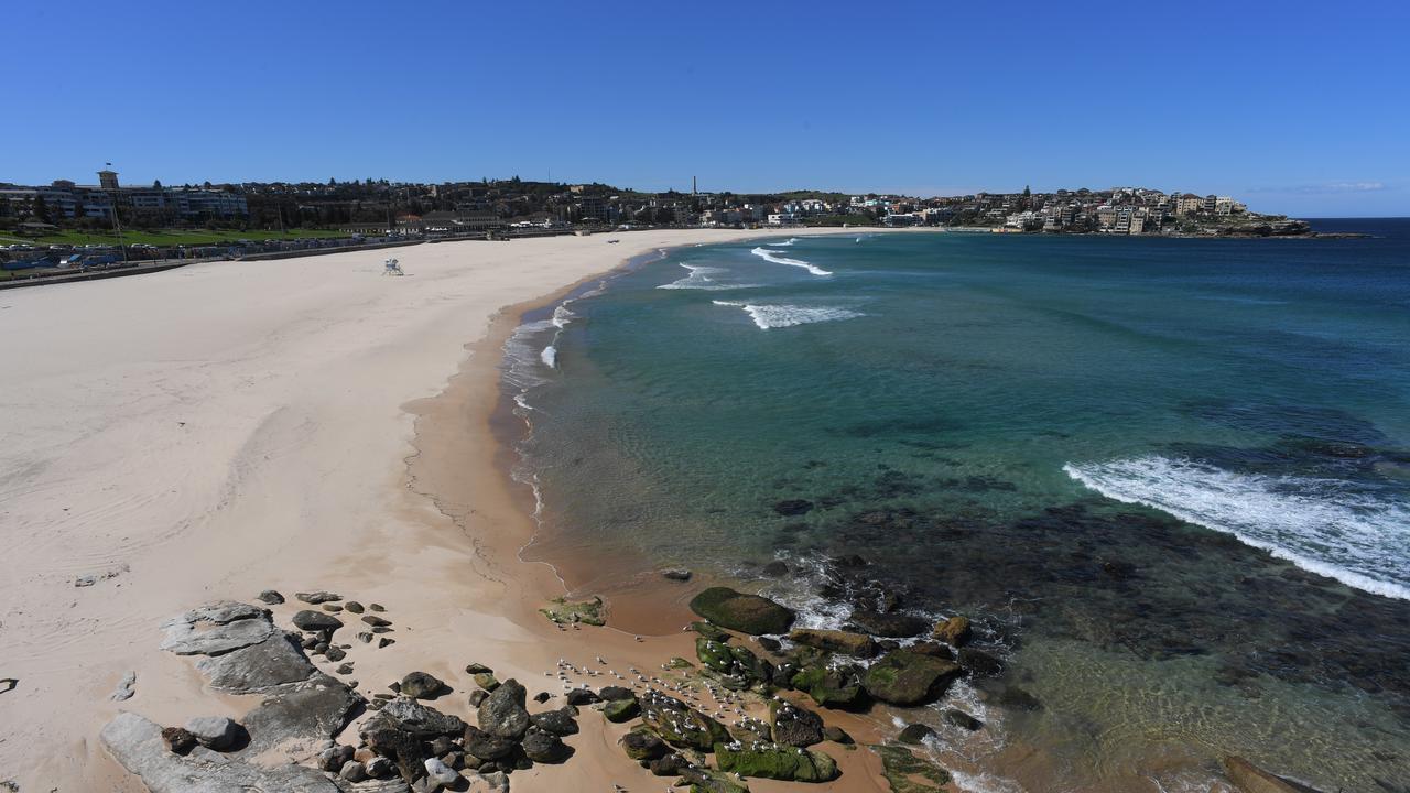 Bondi Beach was closed in late March. Picture: Simon Bullard/AAP