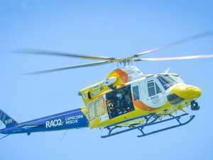 Helicopter rescue after suspected shark attack