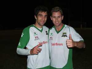 Miners Goal scorers Jordan Corte and Aaron