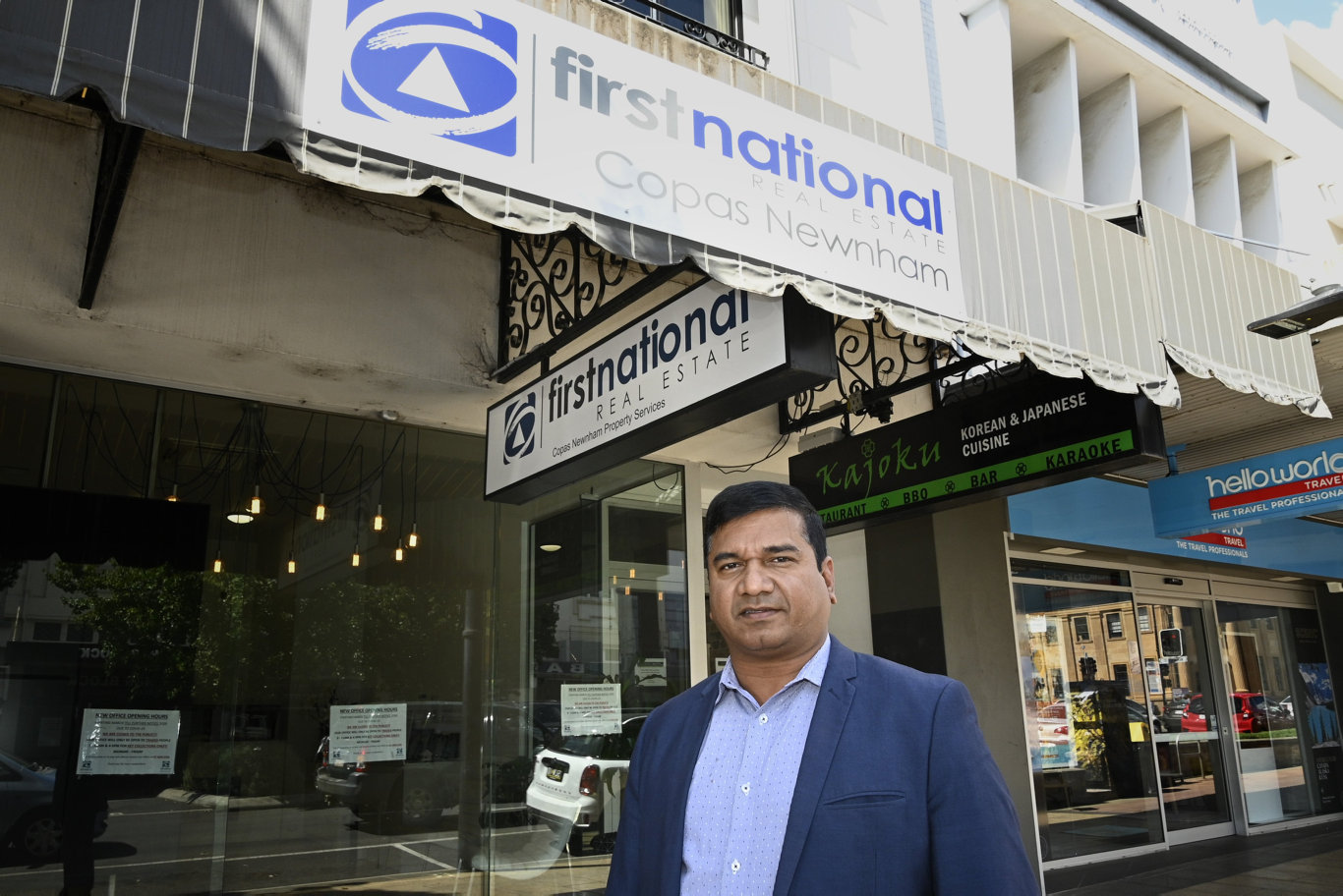 Syed Khudbuddin, managing director of Copas Newnham First National Real Estate Picture: Bev Lacey