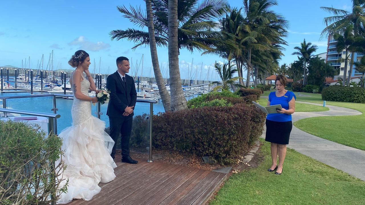 Tori and Connor Whitelaw were married by celebrant Suzanne Woods.