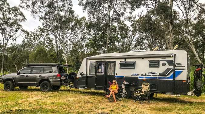 The travellers temporarily calling Biloela home
