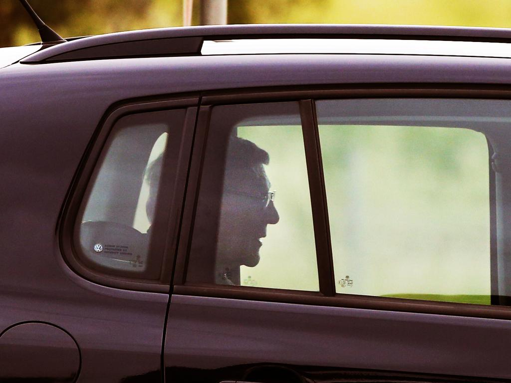 George Pell leaves HM Prison Barwon in Geelong. Picture: AAP