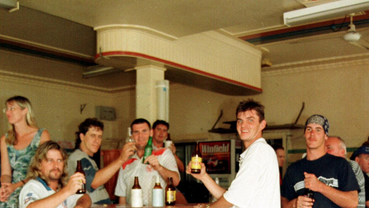 CONTRASTING TIMES: The biggest flood of the 20th century did not stop Gympie locals from catching up for a beer at the Royal Hotel in 1999, but 21 years later, coronavirus certainly did. The state government has announced tax relief to help pubs and clubs weather the coronavirus storm.