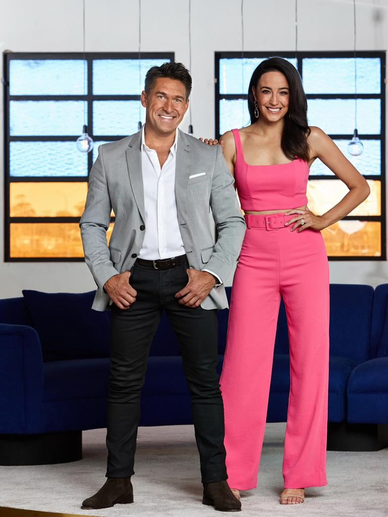House Rules High Stakes host Jamie Durie and co-host Abbey Way. Supplied by Channel 7