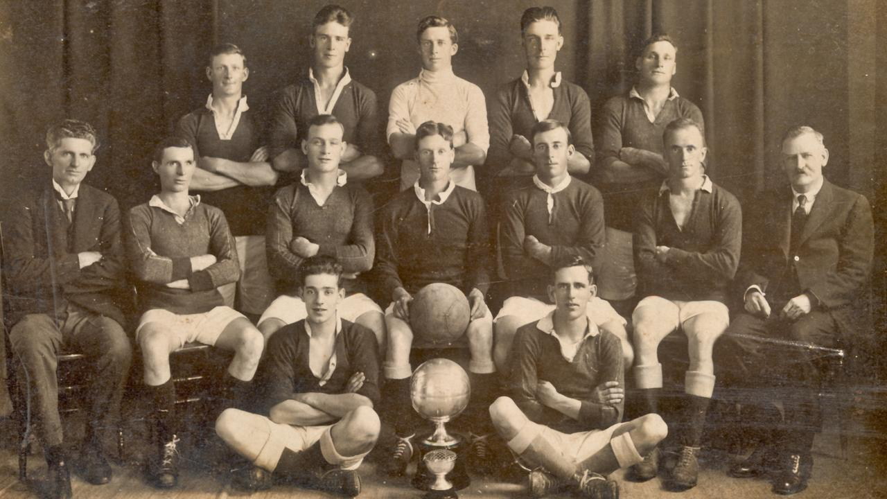 Back Row (left) T.R.W. Duncan, F. Lees, S. Nash, R. Dyckhoff, W. Carter. 2nd Row: P. Ferguson, L. Bollington, A.E. Wilson (V-Capt), G.W. Barritt (Capt & Sec), R. Porter, A.J. Lupton, A.T. Cornelius (Pres. BSA) Front: C. Carter and N. Forman. Winners of the Daily News and Mail Charity Cup and Lane Cup – Season 1925. Photo submitted by Rod Savidge