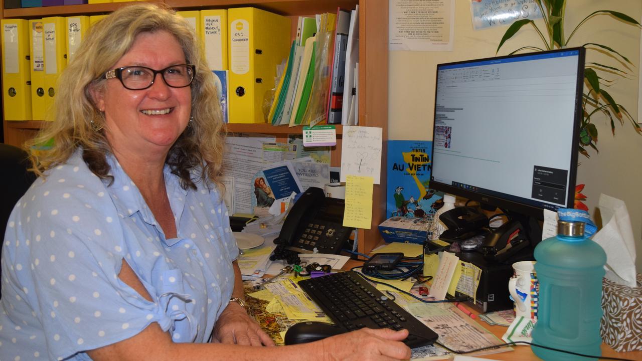 SUPPORT SCHEME: Emerald Neighbourhood director Jeanelle Horn made up cards for Emerald's elderly.