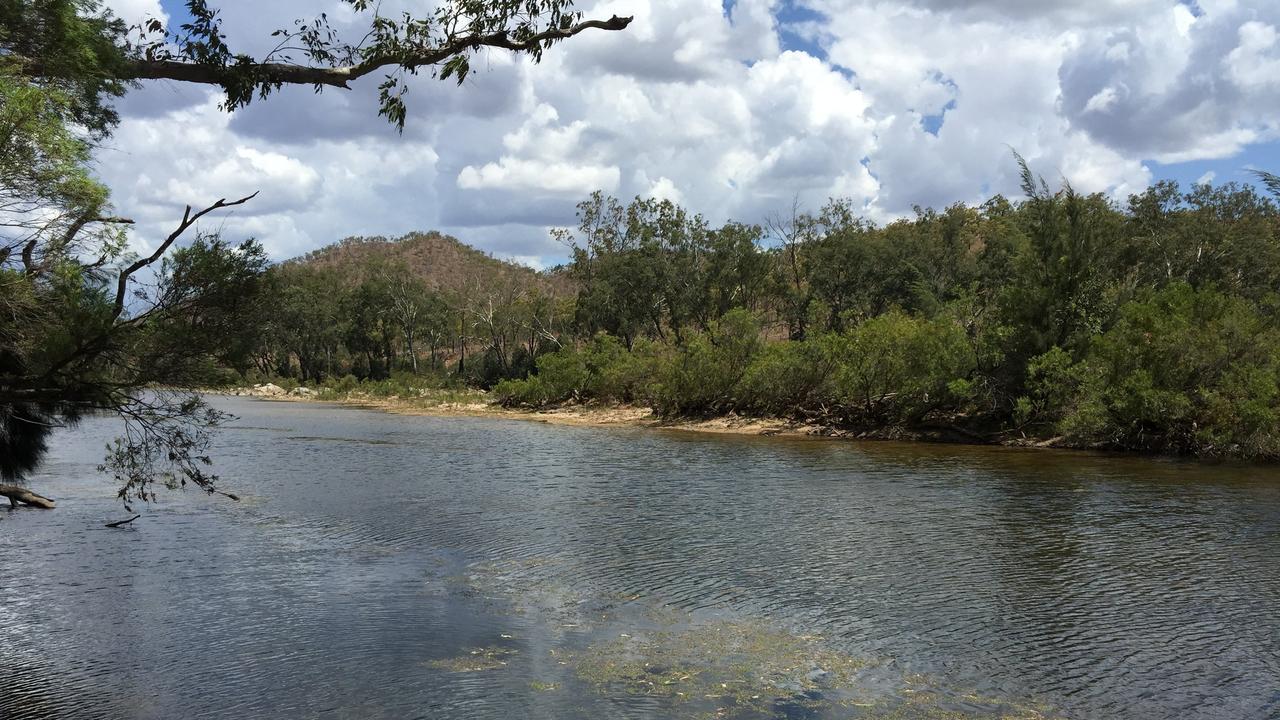 Urannah Creek, site of the proposed Urannah Dam, west of Mackay.
