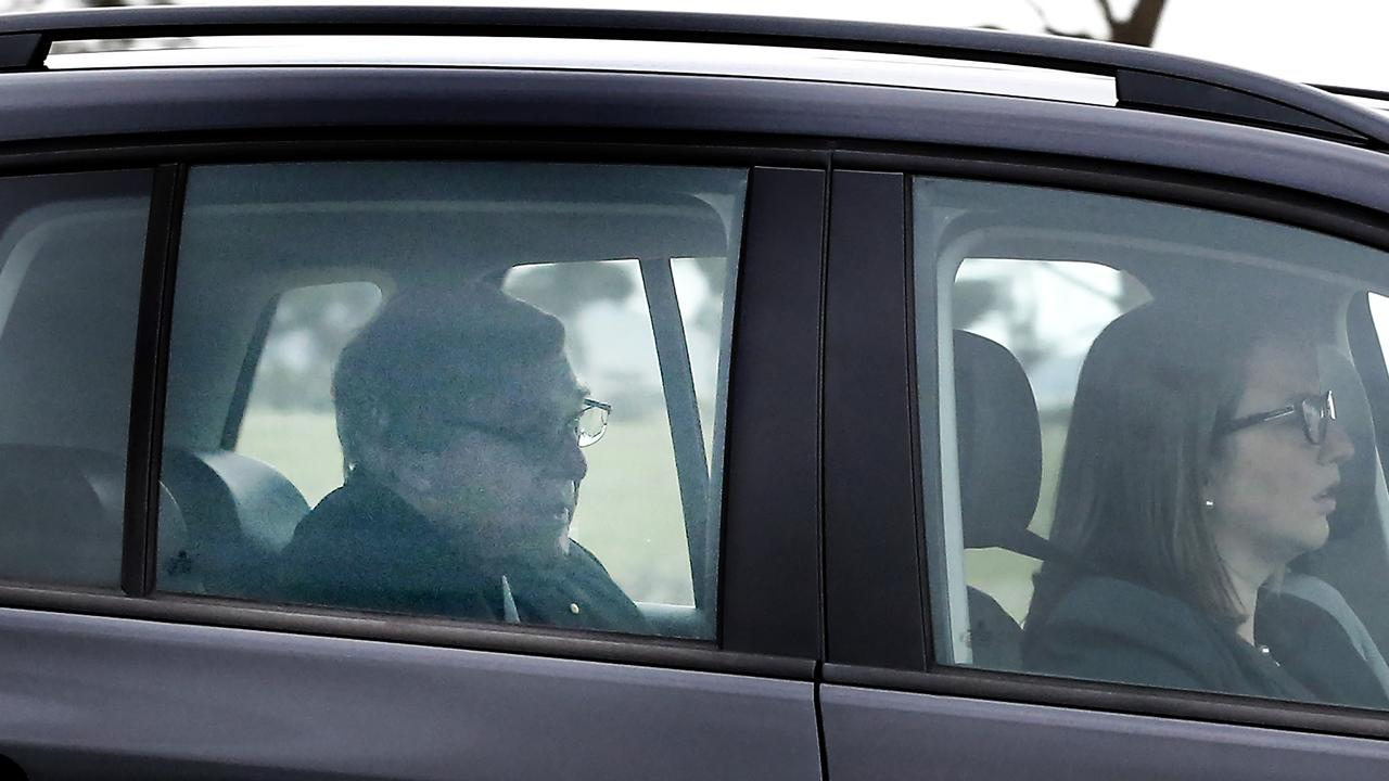 George Pell was today released from Barwon Prison after winning his High Court appeal. Picture: David Caird