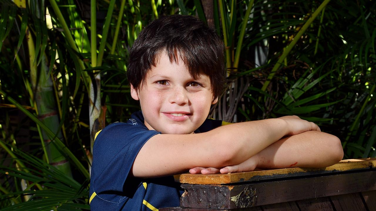 Gabriel Caulton celebrated his eighth birthday this year at home in Bucasia. Picture: Tony Martin
