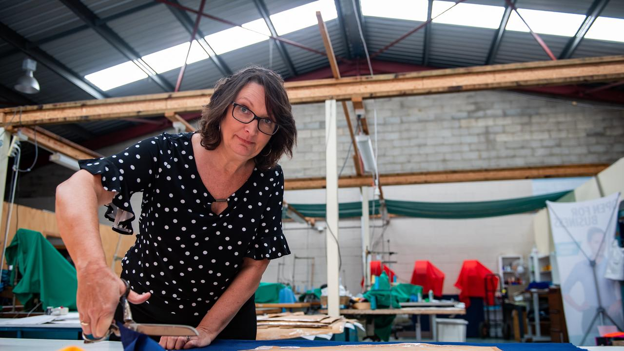 Shelley King proprietor of Slick Sportswear and Uniforms is ready to transform her business to stay afloat in these uncertain times. Photo: Trevor Veale