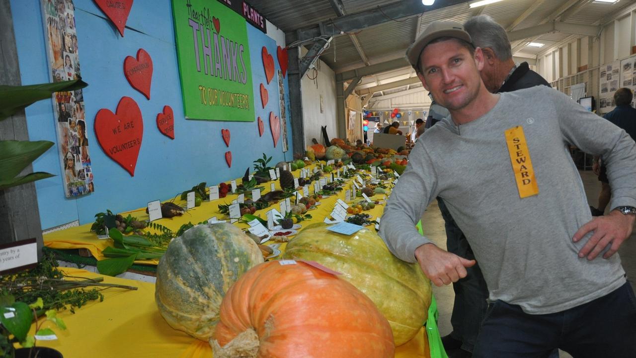 PLANNING AHEAD: Capricorn Edible Plant's Stewart Harley Weston at Yeppoon Show.