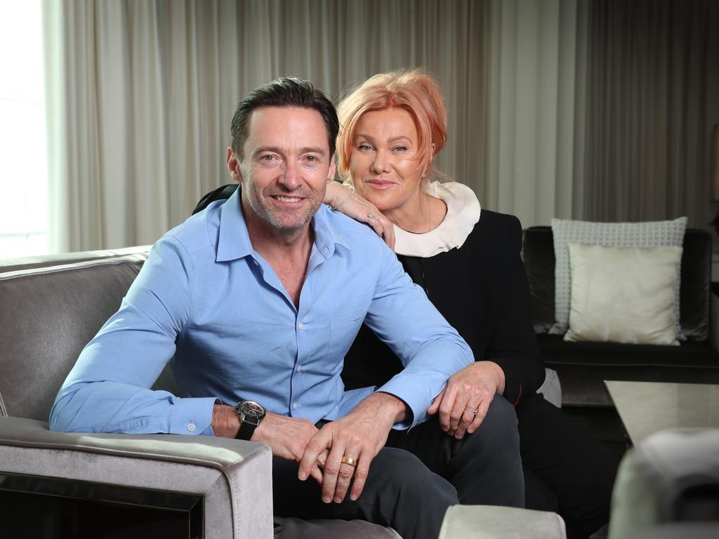 Hugh Jackman and Deborra-Lee Furness. Picture: Alex Coppel