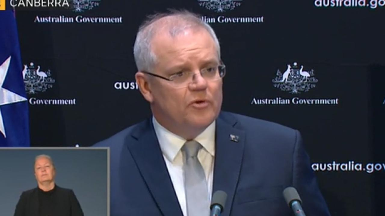 Scott Morrison speaks at a press conference on Tuesday. Picture: ABC